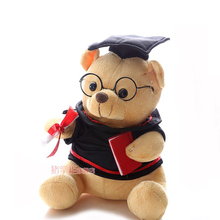 1pc Cute graduation bear plush doll toys boys and girls children festival creative learning & education gift items