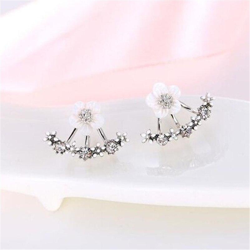 2018 NEW Trendy earrings for women Fashion Flower Crystal Ear Stud Earrings Earring Jewelry for Gift Boucles d'oreilles J07#N (1)