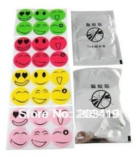 smile anti Mosquito Repellent Sticker Repeller Patch Natural Essential Oil mat 6PCS/BAG wholesale(China)