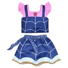 Summer Princess Dresses Girls Vampirina Cosplay Costume Children Kids Batwoman Girls Birthday Party Tutu Dresses