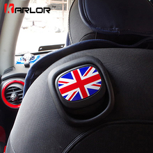 For Mini Cooper F55 F56 seat handle sticker union jack checkered rainbow british 8 colors styles