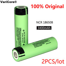2PCS 100% New Original NCR18650B 3.7 v 3400 mah 18650 Lithium Rechargeable Battery For Panasonic Flashlight batteries