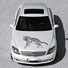 ANIMAL TIGER PREDATOR WILDCAT ART DESIGN HOOD CAR VINYL STICKER DECALS SV1569