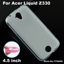 For Acer Liquid Z330 Case Cover 4 Colors Matte TPU Soft Back Cover Phone Case For Acer Liquid Z330 Back Cover Case (4.5 inch)