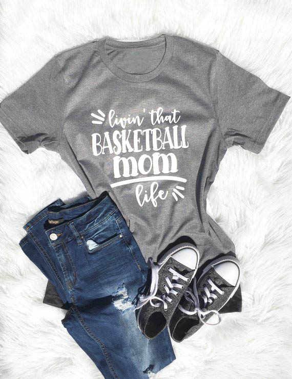 c71997fe basketball mom life T-Shirt Unisex livin that basketball Shirt Casual  Summer Quality Cotton Slogan