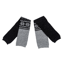 Women Snowflake Leg Warmers Socks  Black  Blue  Grey  Coffee