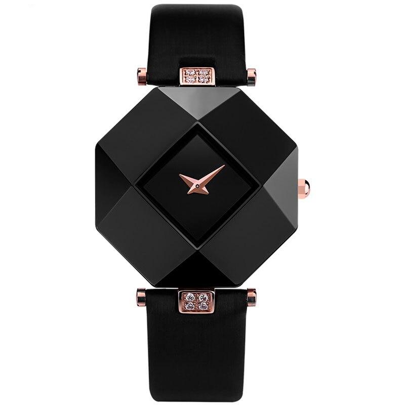 Luxury Wrist Watch Women Analog Ceramic Crystal Diamond Quartz Watch Ladies Popular Unique Dress Watch Gift  <br><br>Aliexpress