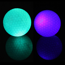 2PCS Small Flashing Electronic Golf Balls Night Golfing Blue + Green Color #gib