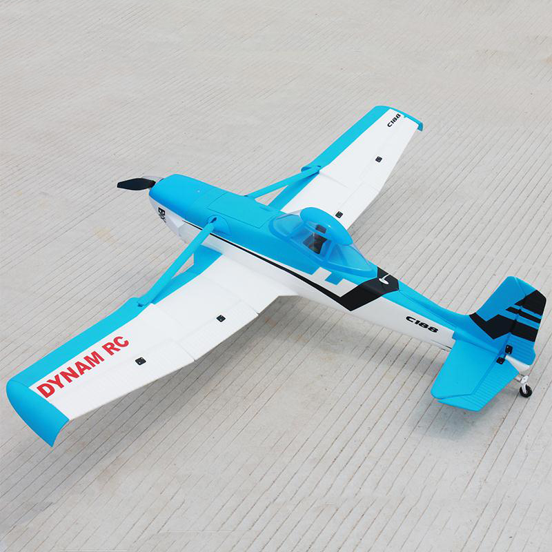 Dynam 1500MM Blue Cessna 188 RC RTF Propeller Plane Model W/ Motor ESC Servo Battery