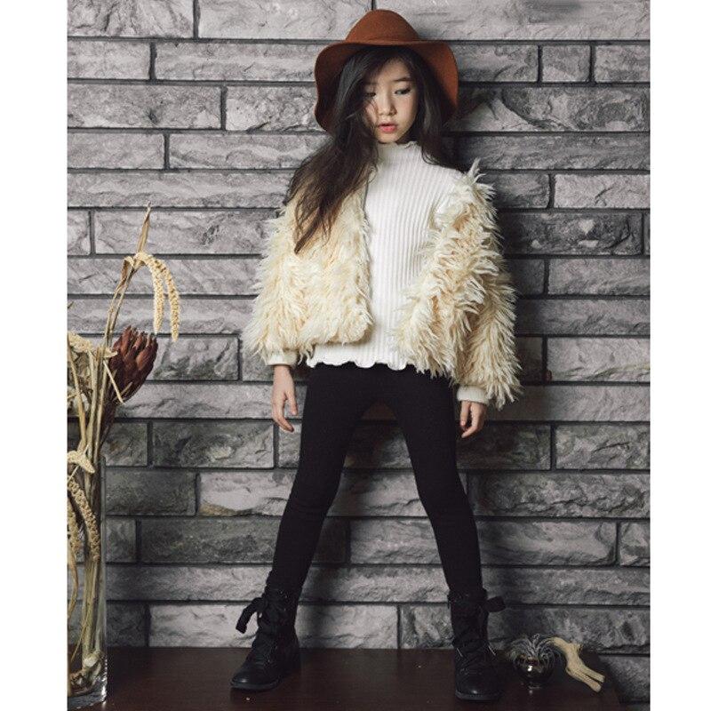 2018 Spring Warm Girls Coat Thicken Kids Rabbit Fur Coat Children Jackets Toddler Short Style Coat Baby Tops Clothes,2525<br>