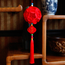 Red Chinese Knot Pendant Handmade Good fortune Ornament Felt Fabric DIY Package Need Sewing By Yourself(China)