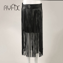 Buy New fashion Long tassel belts Fringe Black Faux pu Leather Lady Belt High Waist tide Punk Boho female waist Hippie belt Bl76 for $14.90 in AliExpress store