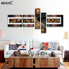 Abstract Art Oil Painting High Quality Hand Painted Home Decor Wall Art Oil Painting On Canvas 5 Panel(Hong Kong)
