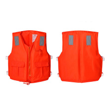 Kayak Life Jacket Swimming Vest Fishing Life Jacket Inflatable Life Vest Man Woman Water Sports Jacket with Orange Foam