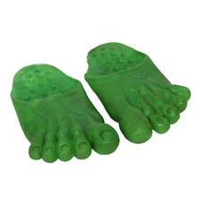 Halloween Tricky Toys Ball Makeup Show Green Flesh Color Slippers Shoes Bigfoot Happy Party Props(China)