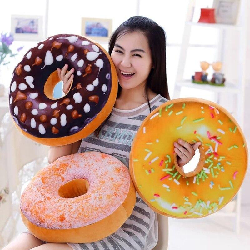 1pc 40cm Creative Long Donuts Pillow Chocolate Donuts Plush Macaron Food Cushion Nice Bottom Cushion Pillow Doughnut<br><br>Aliexpress
