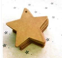 6*6cm star shape handmade baking blank price tag cardboard label Clothing Garment Tags Words blank paper id card 500 pcs/lot(China)