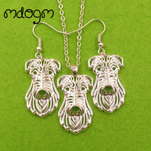 Mdogm Scottish Deerhound Dog Animal Jewelry Sets Necklace Drop Earrings Pendant Gift For Women Female Christmas Wedding T153(China)
