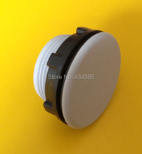 Free shipping 10pcs  30mm mount hole grey/Black plastic push button switch panel plug cap
