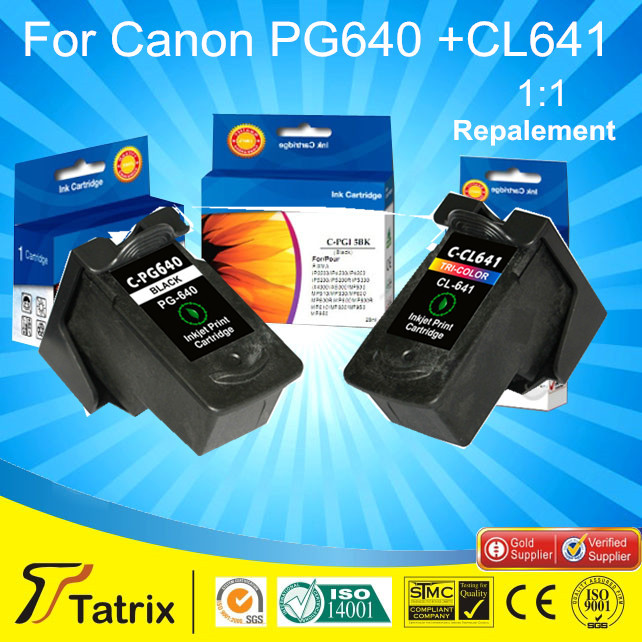 2PK PG 640 CL 641 Ink Cartridge for Canon PG-640 CL-641 Ink Cartridge with ISO9001, ISO14001, SGS,STMC,CE<br><br>Aliexpress