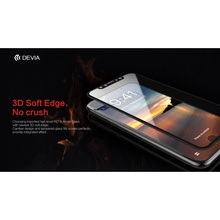 DEVIA for iPhone X (Ten) Eagle Eye 3D Soft Edges Full Screen Imported Asahi Tempered Glass Protector Film