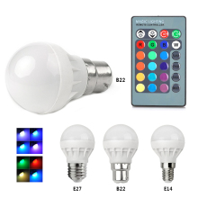 TOP 1PCS Cute AC 85V - 265V 16 Colorful Changeable RGB LED Spotlight Bulb 3W Christmas Decor light lamp+IR Remote Controller(China)