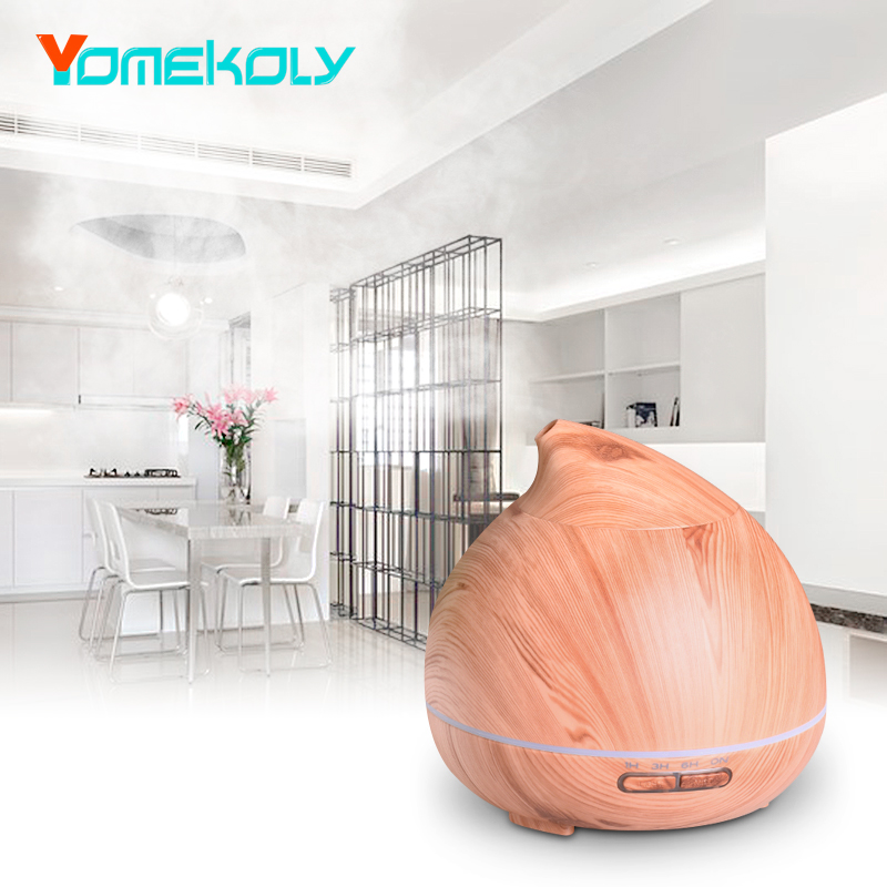 300ml Ultrasonic Air Humidifier Essential Oil Diffuser Aroma Lamp Aromatherapy Electric Aroma Diffuser Mist Maker for Home-Wood<br>