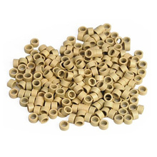 500 Micro Rings Loops Screw Thread  Hair Extensions Sticks  4mm Beads Blonde DIY