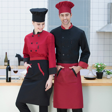 New Chef Jacket 7 Color Double-breasted Food Service Restaurant Chef Uniform Kitchen Cook Clothes Chef Clothing for Male 89(China)