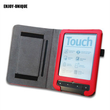 ENJOY-UNIQUE High quality Leather case cover For pocketbook Touch Lux 3 Reader with hand holder(China)