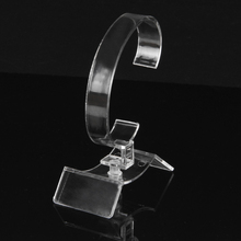 TONVIC Wholesale 20 Plastic Clear View Watch Display Stand Holder Price Tag Can Be Attached