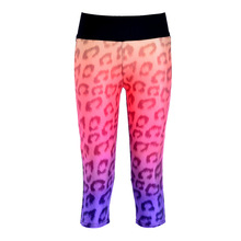 High Waist capris adventure time black milk calzas deportivas mujer fitness 3d print pink Leopard  women leggings pants