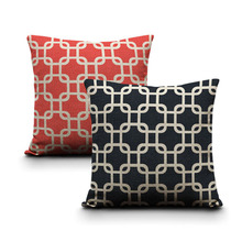 Embroidery Cushion Cover Modern Style Stereo Throw Pillow Cases Flower Pattern 45X45cm Bedroom Sofa Decor red black pillows