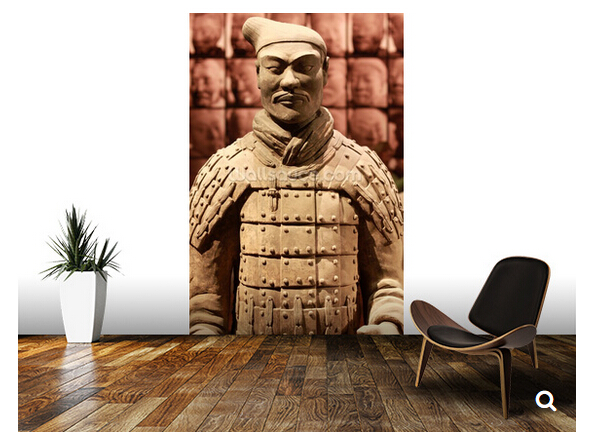 Custom Chinese natural wallpaper, Terracotta Soldier,3D photo mural for living room bedroom dining backdrop waterproof wallpaper<br>