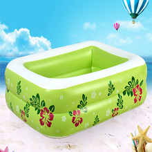 Home Use Portable Baby's Swimming Pool Kids' Inflatable Square Swim Bathing Pool Large Capacity Children's Fancy Swimming Pool(China)