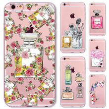 Colorful Fashion Perfume Bottle Case Cover for iphone 5 5s SE coque capa Soft Sillicon Clear TPU cellphone bags Accessories