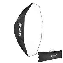 Neewer Photography Studio 24 inches/60cm Octagonal Silver Reversible Softbox Diffuser for Hensel Basic/Contra/EH Porty/EH Flash(China)