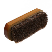 Wooden Handle Shoes Shine Brush Polish Bristle Horse Hair Buffing Brushes 2016 Hot New Home Essential Accessory Cleaning Kits(China)
