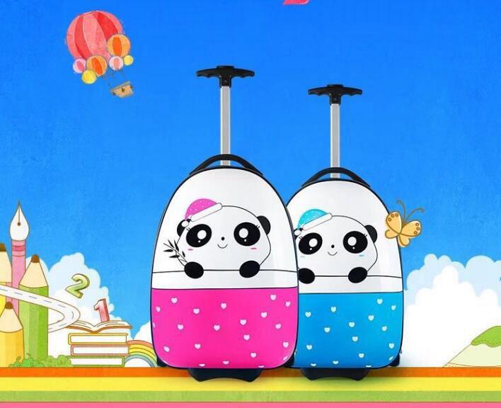 Panda ja südametega reisikohver lastele