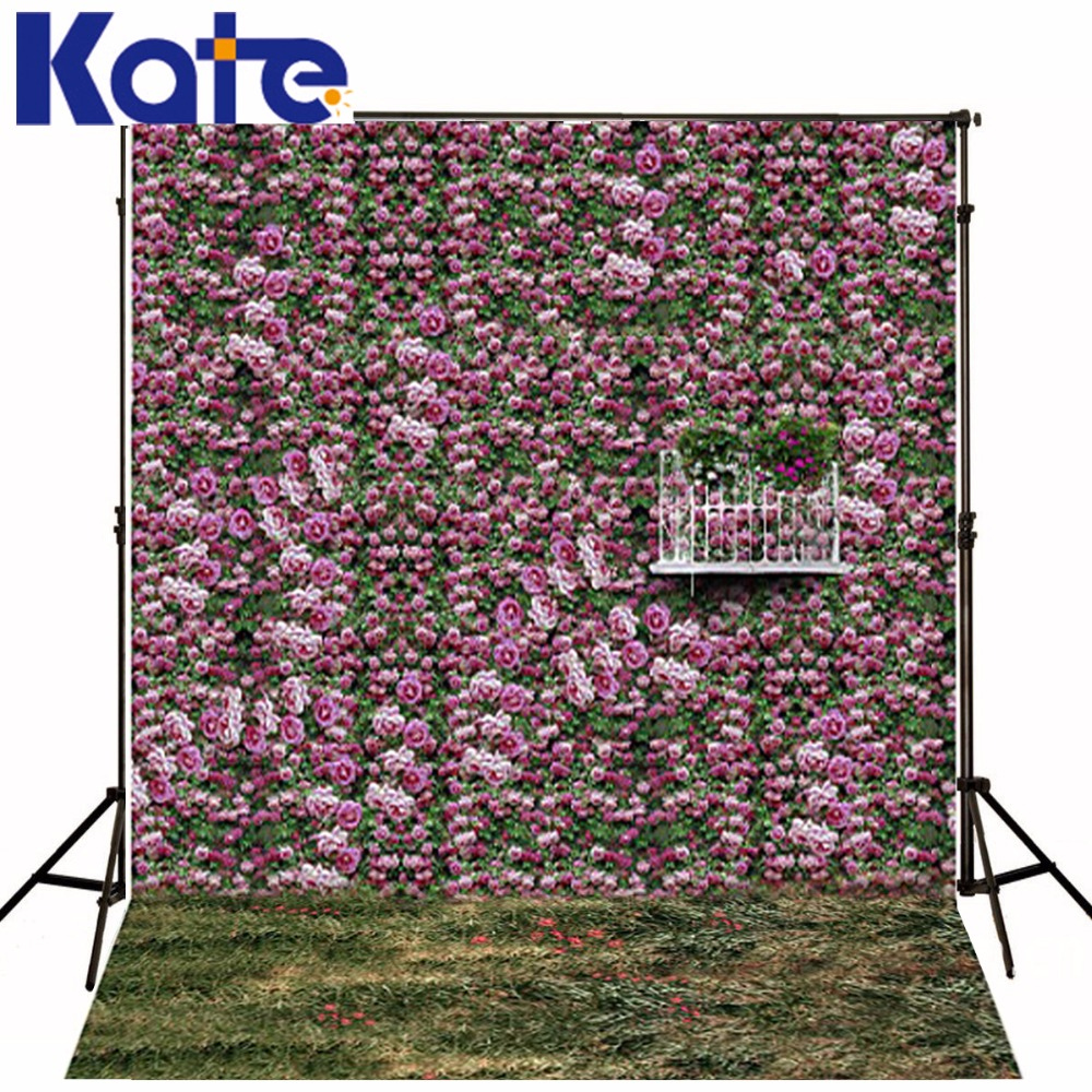 KATE 10x10ft Flower Wall Purple Photo Studio Backdrop Fundo Flowers Hay Fence3D Baby Photography Backdrop Background Lk 1857<br>