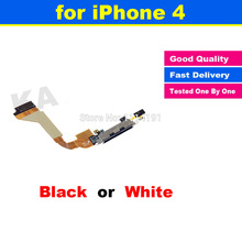 High Quality Charger Charging Dock Port Connector Ribbon Black White Cellphone Replacement flex Cable for iphone 4 4G