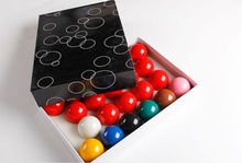 Free shipping Resin 52.5mm Snooker Complete Set of Balls 2 1/16 inch 22pcs snooker balls Billiards snooker accessories