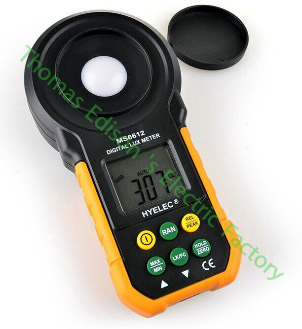 High quality MS6612 200000 Lux Light Meter Test Spectra Auto Range Digital Luxmeter<br>