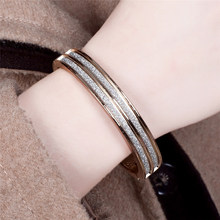 High Quality Exquisite Flash Paper Hinged Bangles for Women Girls Silver Gold Color Cuff Bracelets Bangles Jewelry