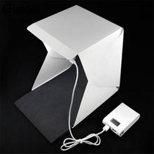 Gizcam Mini Portable Folding lightbox Photography Photo Studio Softbox Lighting Kit Light box for Phone Digital DSLR Camera