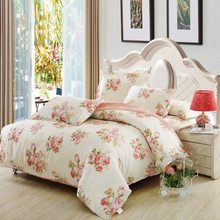 Custom Size Home textile 100% cotton 4pcs Bedding set  strip plaid twin full queen king super king custom size quality