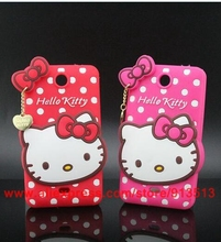 3D Silicone Cartoon Hello Kitty Cell Phone Cases Cover For Nokia Microsoft Lumia 430 N430 Case
