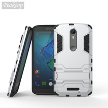 For Moto X Force Case Anti-knock Armor Silicone + Plastic Case For Motorola Moto X Force Cover Droid Turbo 2 Phone Capa<