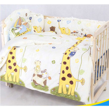 OUTAD Cute 100*58cm/110*60cm 5pcs/Set Promotion Cotton Baby Children Bedding Set Comfortable Crib Bumper Organizer Cot Kit Hot(China)