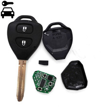 Free Shipping Car Remote Key Fob 2 Buttons 315MHz With 4D67 Chip for Toyota Corolla Hilux Fortuner 4Runner